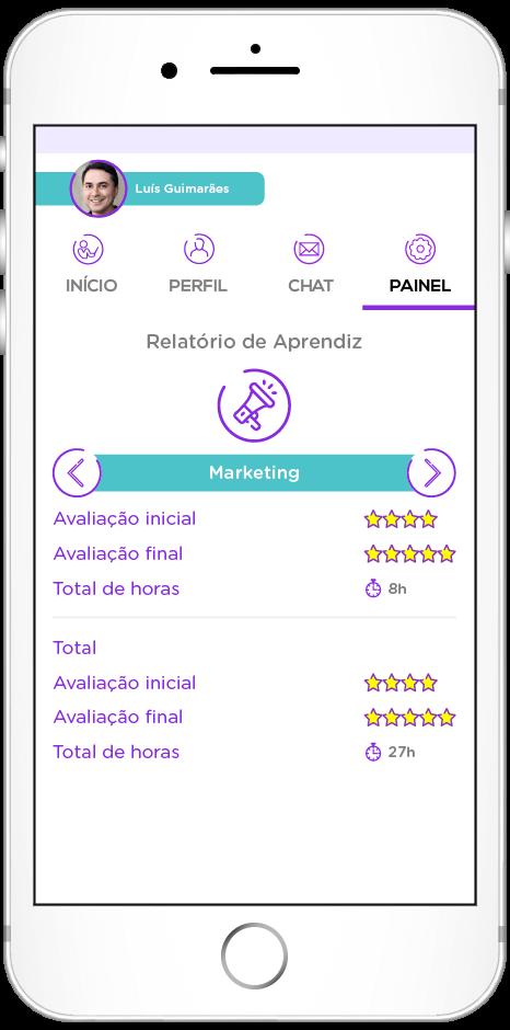 tela do app de Colaboração