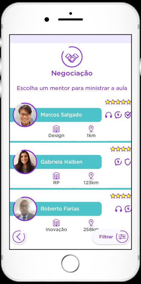 tela do app de Escalabilidade