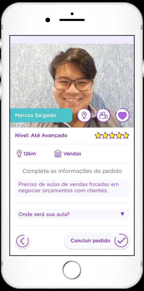 tela do app de Retenção do conhecimento